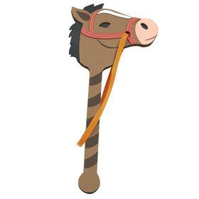 Brown Foam Pony on a Stick