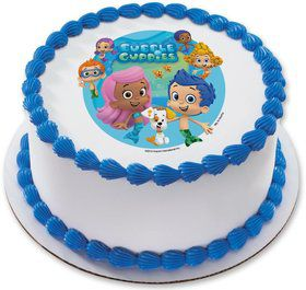 "Bubble Guppies 7.5"" Round Edible Cake Topper (Each)"