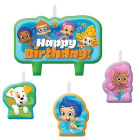 Bubble Guppies Candle Set (4 Pack)