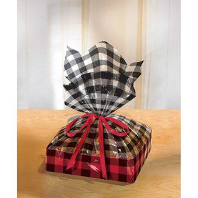 Buffalo Plaid Cello Bag and Treat Tray (2)