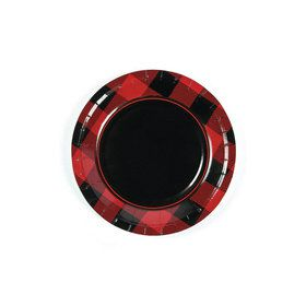 Buffalo Plaid Dessert Plates (8)