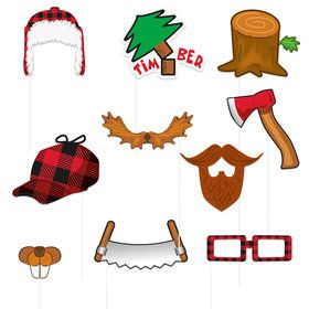 Buffalo Plaid Lumberjack Photo Booth Props (10)