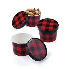 Buffalo Plaid Snack Bowls With lids (12)