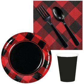 Buffalo Plaid Snack Pack For 16