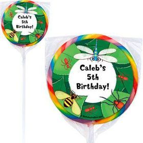 Bugs Personalized Lollipops (pack of 12)