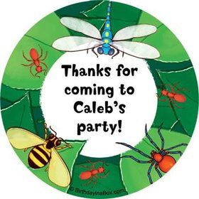 Bugs Personalized Stickers (sheet of 12)