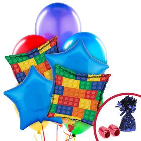 Building Blocks Balloon Bouquet Kit