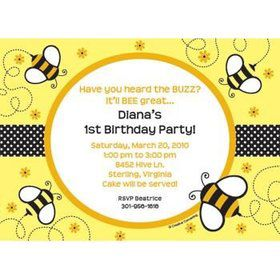 bumble bee invitations and thank yous