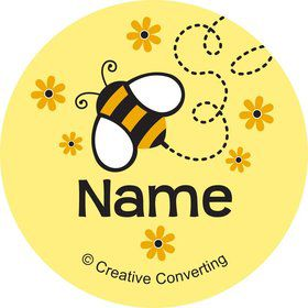 Bumble Bee Personalized Mini Stickers (Sheet of 24)