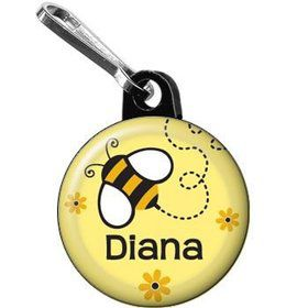 Bumble Bee Personalized Mini Zipper Pull (each)