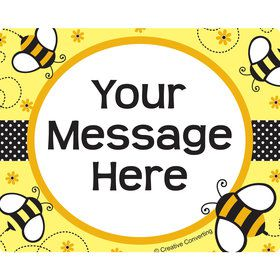 Bumble Bee Personalized Rectangular Stickers (Sheet of 15)