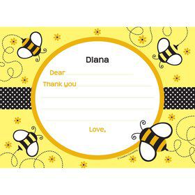Bumble Bee Personalized Thank You Note (each)