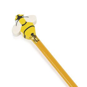 Busy Bee Eraser Pencil Toppers (24 Count)