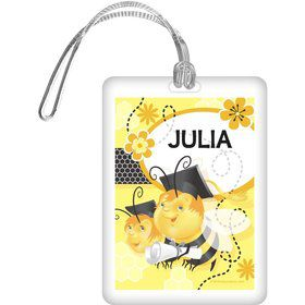 Busy Bee Grad Personalized Bag Tag (Each)