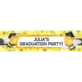 Busy Bee Grad Personalized Banner (Each)