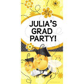 Busy Bee Grad Personalized Giant Banner 30x60 (Each)