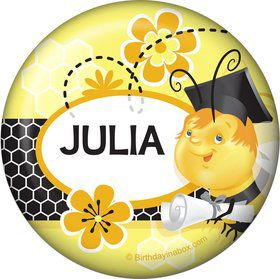 Busy Bee Grad Personalized Magnet (Each)
