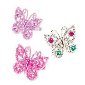 "Butterfly 1"" Ring Favors (12 Pack)"