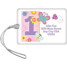 Butterfly 1st Birthday Personalized Luggage Tag (Each)