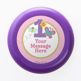 Butterfly 1st Birthday Personalized Mini Discs (Set of 12)