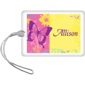 Butterfly Birthday Personalized Bag Tag (each)