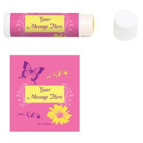 Butterfly Birthday Personalized Lip Balm (12 Pack)