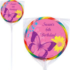 Butterfly Birthday Personalized Lollipop (pack of 12)