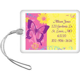 Butterfly Birthday Personalized Luggage Tag (each)