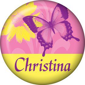 Butterfly Birthday Personalized Mini Magnet (each)