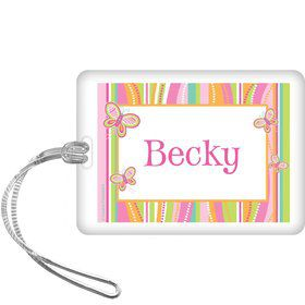 Butterfly Personalized Bag Tag (each)