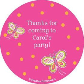 Butterfly Personalized Stickers (sheet of 12)