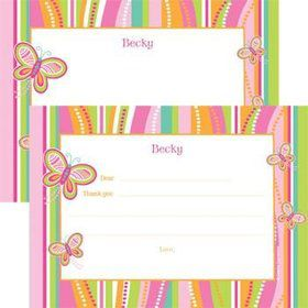 Butterfly Personalized Thank You Note (each)