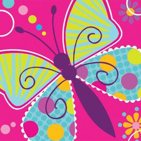 Butterfly Sparkle Beverage Napkins (16 Pack)