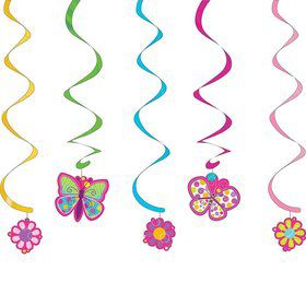 Butterfly Sparkle Dizzy Danglers Hanging Decorations (Each)