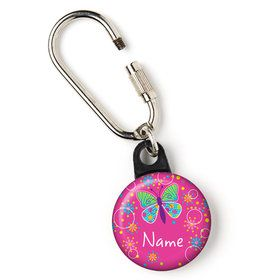 "Butterfly Sparkle Personalized 1"" Carabiner (Each)"