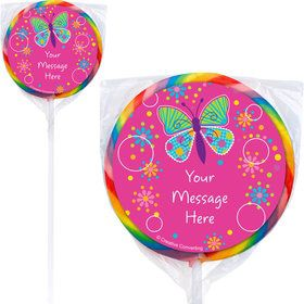 Butterfly Sparkle Personalized Lollipops (12 Pack)