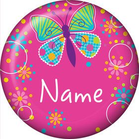 Butterfly Sparkle Personalized Mini Button (Each)