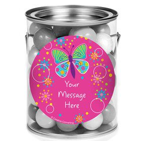 Butterfly Sparkle Personalized Mini Paint Cans (12 Count)