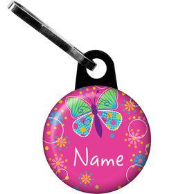 Butterfly Sparkle Personalized Zipper Pull (Each)