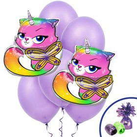 Butterfly Unicorn Kitty Jumbo Balloon Bouquet