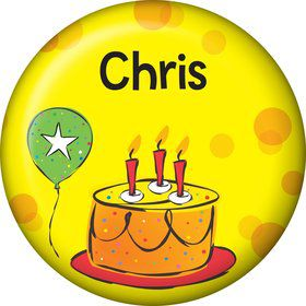 Cake Celebration Personalized Mini Button (Each)