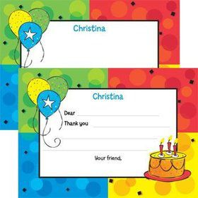 Cake Celebration Personalized Thank You Note (each)