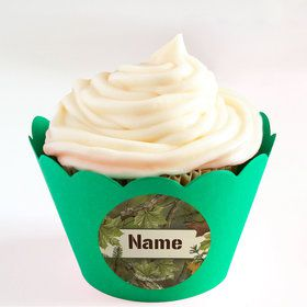 Camo Personalized Cupcake Wrappers (Set of 24)