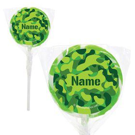 "Camouflage Personalized 2"" Lollipops (20 Pack)"