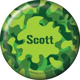 Camouflage Personalized Button (each)