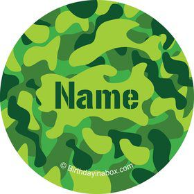 Camouflage Personalized Mini Stickers (Sheet of 24)