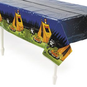 Camp Adventure Plastic Tablecloth (1)