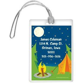Camping Personalized Luggage Tag (each)