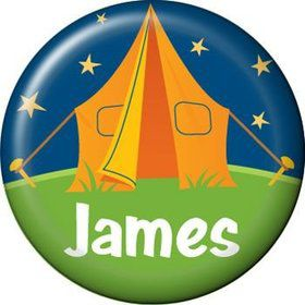Camping Personalized Mini Magnet (each)