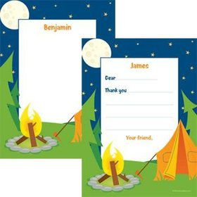 Camping Personalized Thank You Notes (each)